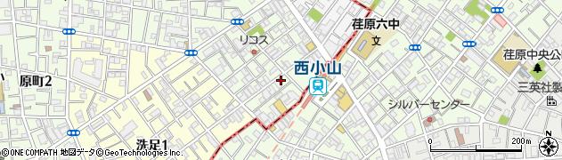 東京都目黒区原町周辺の地図