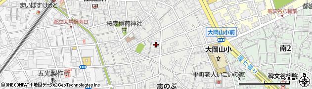 東京都目黒区平町周辺の地図