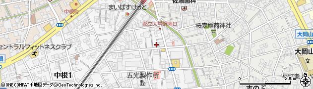 東京都目黒区中根2丁目周辺の地図