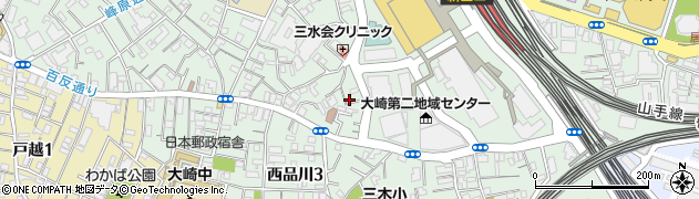 東京都品川区大崎2丁目7-5周辺の地図