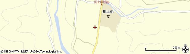 岐阜県中津川市川上(田之尻)周辺の地図