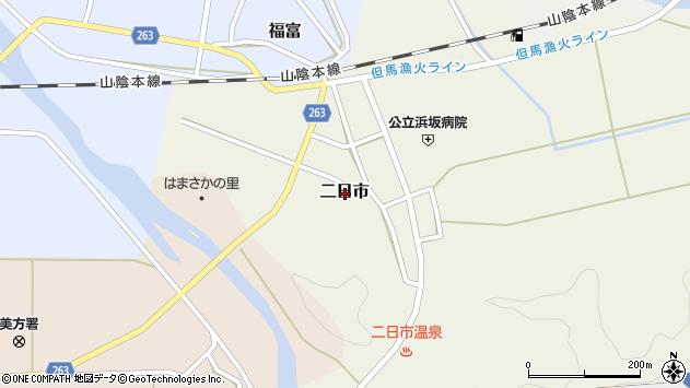 〒669-6731 兵庫県美方郡新温泉町二日市の地図