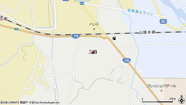 〒669-6747 兵庫県美方郡新温泉町三谷の地図