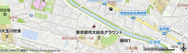 東京都世田谷区鎌田周辺の地図