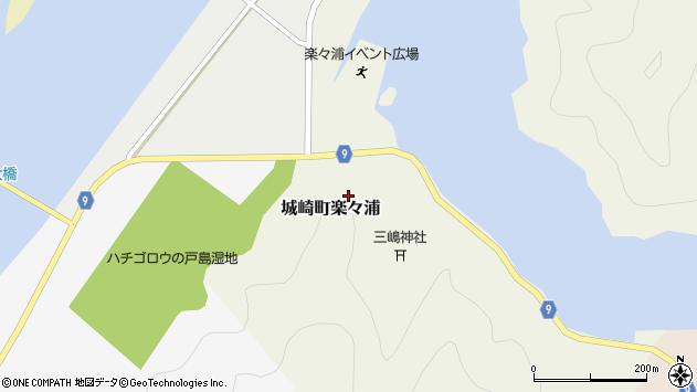 〒669-6111 兵庫県豊岡市城崎町楽々浦の地図