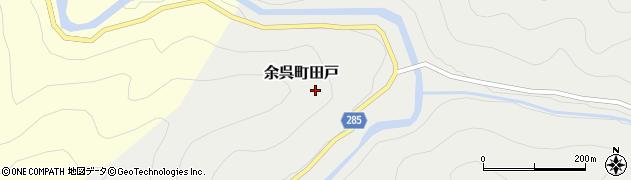 滋賀県長浜市余呉町田戸周辺の地図