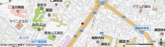 東京都世田谷区瀬田周辺の地図