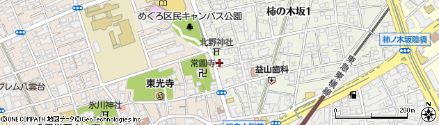 東京都目黒区柿の木坂1丁目32-16周辺の地図