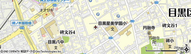 東京都目黒区碑文谷周辺の地図