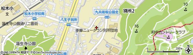都営多摩ニュータウン別所団地周辺の地図