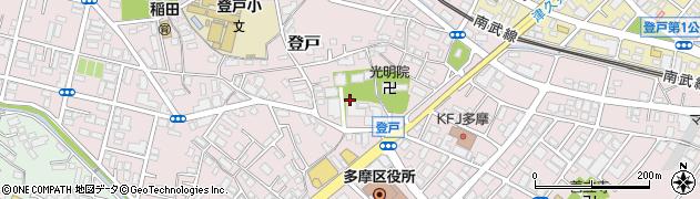 神奈川県川崎市多摩区登戸周辺の地図