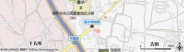 豊小入口周辺の地図