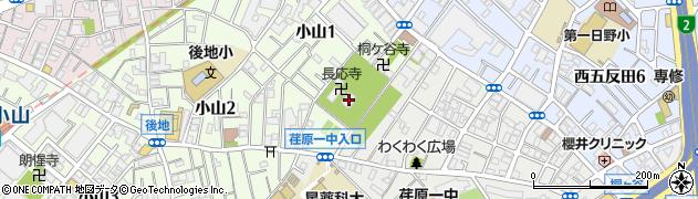 長応寺周辺の地図