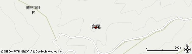 山梨県南アルプス市高尾周辺の地図