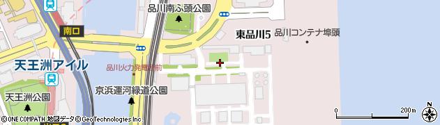 東京都品川区東品川周辺の地図