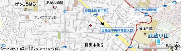 東京都目黒区目黒本町周辺の地図