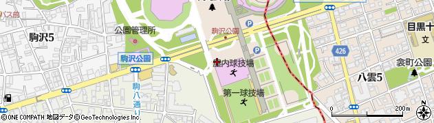 東京都世田谷区駒沢公園周辺の地図