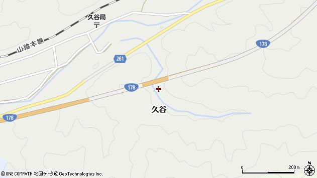 〒669-6721 兵庫県美方郡新温泉町久谷の地図