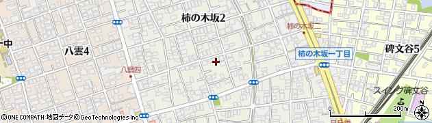 東京都目黒区柿の木坂周辺の地図