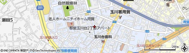 東京都世田谷区玉川台周辺の地図