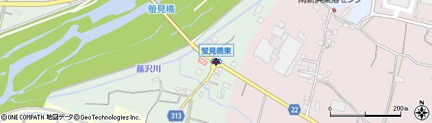 蛍見橋東周辺の地図
