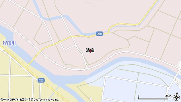 〒669-6711 兵庫県美方郡新温泉町清富の地図