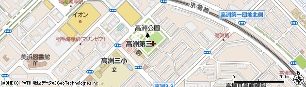 千葉県千葉市美浜区高洲周辺の地図