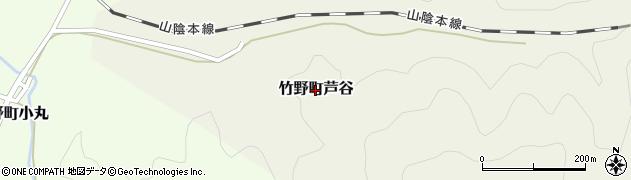 兵庫県豊岡市竹野町芦谷周辺の地図