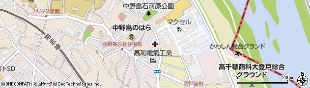 神奈川県川崎市多摩区中野島周辺の地図