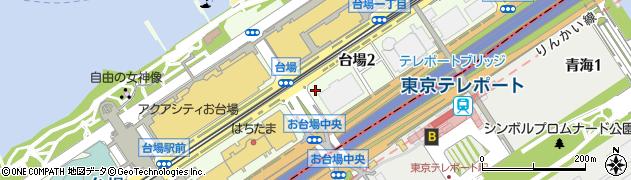 東京都港区台場周辺の地図
