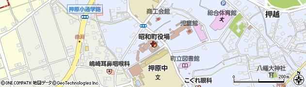 山梨県中巨摩郡昭和町周辺の地図