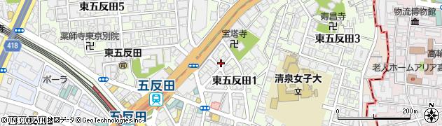 東京都品川区東五反田周辺の地図