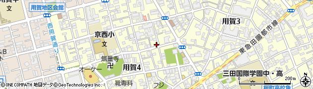 東京都世田谷区用賀周辺の地図