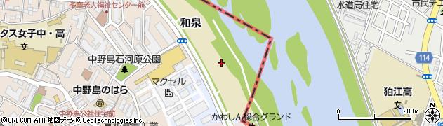 神奈川県川崎市多摩区和泉周辺の地図