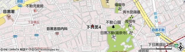 東京都目黒区下目黒周辺の地図