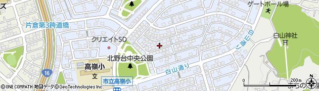 東京都八王子市北野台周辺の地図