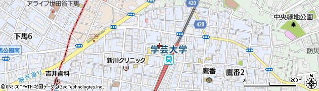 東京都目黒区鷹番周辺の地図