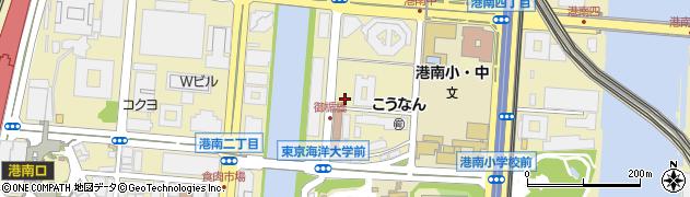 東京都港区港南周辺の地図