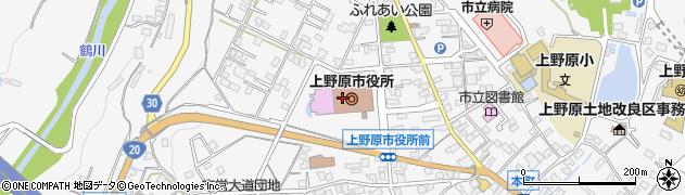 山梨県上野原市周辺の地図