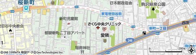 東京都世田谷区新町周辺の地図