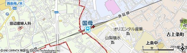 山梨県甲府市周辺の地図