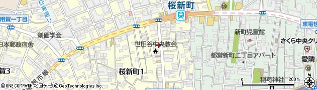 東京都世田谷区桜新町周辺の地図