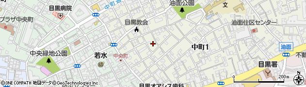 東京都目黒区中町周辺の地図