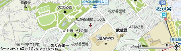 東京都八王子市松が谷周辺の地図