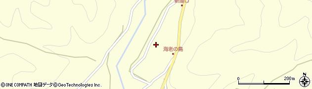 岐阜県中津川市川上(海老島)周辺の地図