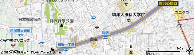 東京都世田谷区駒沢周辺の地図