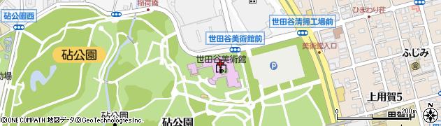 東京都世田谷区砧公園周辺の地図