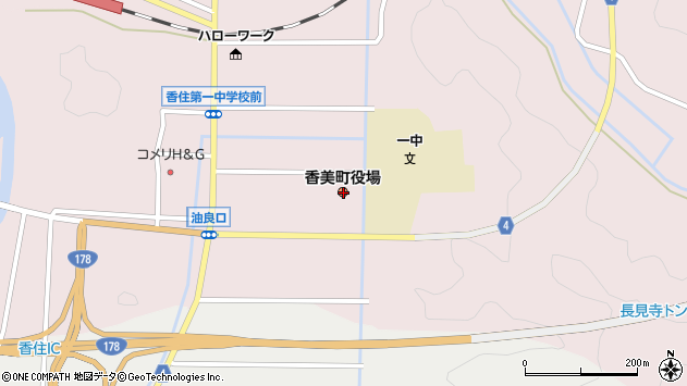 〒669-6425 兵庫県美方郡香美町香住区大梶の地図