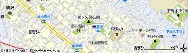 東京都世田谷区野沢周辺の地図