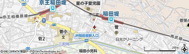 神奈川県川崎市多摩区菅周辺の地図